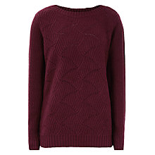 Buy Reiss Ribbed Jumper, Winter Plum Online at johnlewis.com