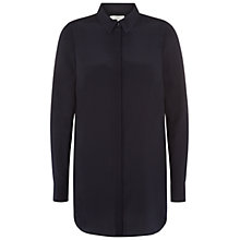 Buy Hobbs London Cathy Shirt, Navy Online at johnlewis.com