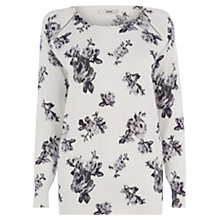 Buy Oasis Rose Jumper, Off White Online at johnlewis.com