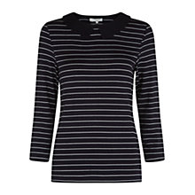 Buy Hobbs Georgie Top, Navy/Ivory Online at johnlewis.com