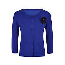 Buy Jacques Vert Corsage Trim Cardigan, Cobalt Online at johnlewis.com