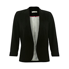 Buy Miss Selfridge Crepe Blazer, Black Online at johnlewis.com