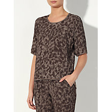 Buy John Lewis Capsule Collection Fern Print Top, Brown Online at johnlewis.com