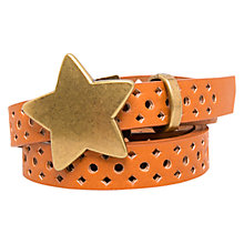 Buy Mango Kids Children's Laser-Cut Belt, Brown Online at johnlewis.com