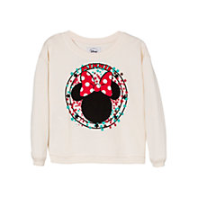Buy Mango Kids Minnie Mouse Jumper, White Online at johnlewis.com
