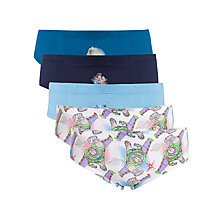 Buy John Lewis Boy Disney Toy Story Briefs, Pack of 5, Blue Online at johnlewis.com
