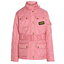 Buy Barbour Girls' Flyweight International Jacket, Pink Online at johnlewis.com