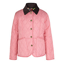 Buy Barbour Girls' Elysia Quilted Jacket, Pink Online at johnlewis.com