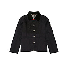 Buy Barbour Girls' Cromer Quilt Jacket, Navy Online at johnlewis.com