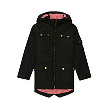 Buy Barbour Girls' Helina Quilted Parka Coat, Navy Online at johnlewis.com