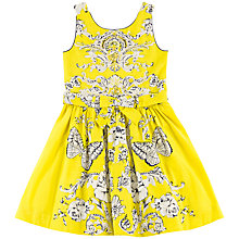 Buy Derhy Kids Girls' Butterfly Floral Print Dress, Yellow Online at johnlewis.com