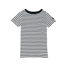 Buy Barbour Girls' Nautical Stripe T-Shirt, Navy/White Online at johnlewis.com