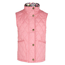 Buy Barbour Girls' Quilted Encore Gilet, Pink Online at johnlewis.com