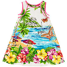 Buy Derhy Kids Girls' Beach Scene Print Dress, Multi Online at johnlewis.com