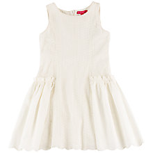Buy Derhy Kids Girls' Embroidered Cotton Dress, Cream Online at johnlewis.com