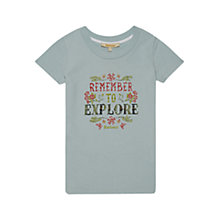 Buy Barbour Girls' Explore T-Shirt, Blue Online at johnlewis.com