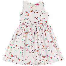 Buy Derhy Kids Girls' Bird Print Dress, White/Multi Online at johnlewis.com