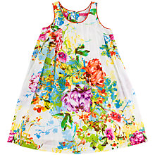Buy Derhy Kids Girls' Floral Print Sleeveless Dress, White/Multi Online at johnlewis.com