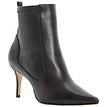 Buy Dune Nescue Leather Pointed Toe Stiletto Heel Ankle Boots Online at johnlewis.com