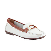 Buy John Lewis Paris Leather Bar Detail Loafers Online at johnlewis.com