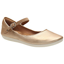 Buy Clarks Feature Film Leather Pumps, Gold Metallic Online at johnlewis.com