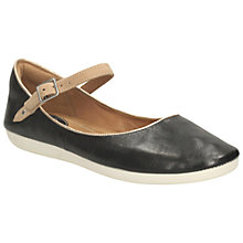 Buy Clarks Feature Film Leather Pumps, Black Online at johnlewis.com