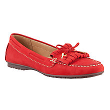Buy John Lewis Milan Nubuck Fringe and Bow Detail Loafers Online at johnlewis.com