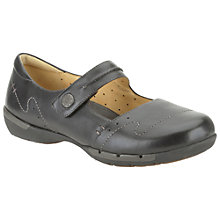 Buy Clarks Un Helma Leather Shoes, Black Online at johnlewis.com