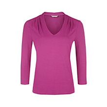 Buy Planet Pleated Shoulder Jersey Top, Fuchsia Online at johnlewis.com