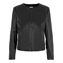 Buy Planet Leather Jacket, Black Online at johnlewis.com