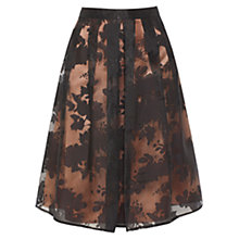 Buy Coast Harper Floral Skirt, Black/Brown Online at johnlewis.com