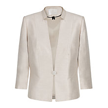 Buy Jacques Vert Notch Neck One Button Jacket, Blonde Online at johnlewis.com