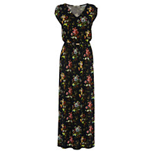 Buy Oasis Primose Print V-Neck Maxi Dress, Multi Online at johnlewis.com