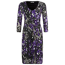 Buy Kaliko Bethany Floral Print Dress, Multi Purple Online at johnlewis.com