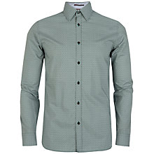 Buy Ted Baker Pow Micro Swirl Long Sleeve Shirt, Green Online at johnlewis.com