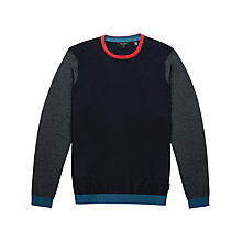 Buy Ted Baker Basenew Merino Wool Crew Neck Jumper, Navy Online at johnlewis.com