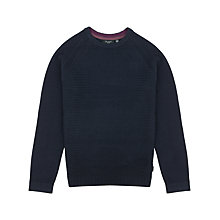 Buy Ted Baker Crewe Basket Stitch Long Sleeve Jumper Online at johnlewis.com