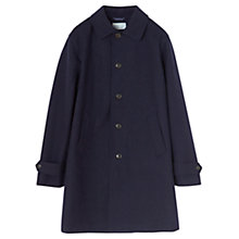 Buy Jigsaw Bonded Wool Coat, Navy Online at johnlewis.com