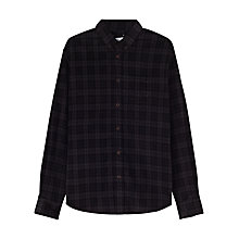 Buy Jigsaw Tartan Needlecord Slim Button Down Shirt, Black Online at johnlewis.com