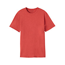Buy Jigsaw Classic Cotton Crew Neck T-Shirt, Coulis Online at johnlewis.com