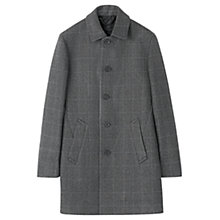 Buy Jigsaw Prince of Wales Double Face Coat, Grey Online at johnlewis.com