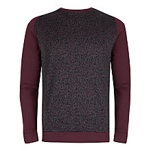 Buy Ted Baker Kenn Leopard Print Top, Dark Red Online at johnlewis.com
