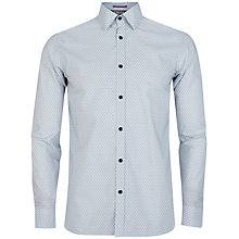 Buy Ted Baker POW Micro Swirl Print Shirt, White Online at johnlewis.com