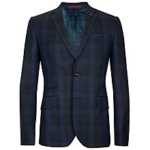 Buy Ted Baker Theon Check Blazer, Blue Online at johnlewis.com