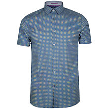 Buy Ted Baker Breath Circle Print Shirt, Navy Online at johnlewis.com