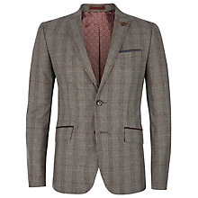Buy Ted Baker Pypar Check Wool Blend Blazer, Purple Online at johnlewis.com