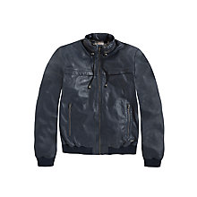 Buy Pepe Jeans Spike Leather Jacket, Navy Online at johnlewis.com