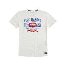 Buy Pepe Jeans Sean Open Slub Logo T-Shirt Online at johnlewis.com