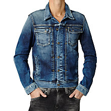 Buy Pepe Jeans Rooster Denim Jacket, Medium Blue Online at johnlewis.com