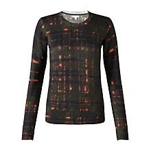 Buy Jigsaw Neon Check Jumper, Khaki Online at johnlewis.com